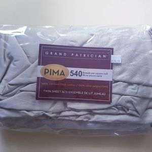 🛌 Twin Sheet Set - Pima Cotton, BNIP